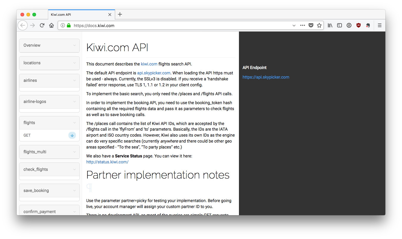 Kiwi API Documentation